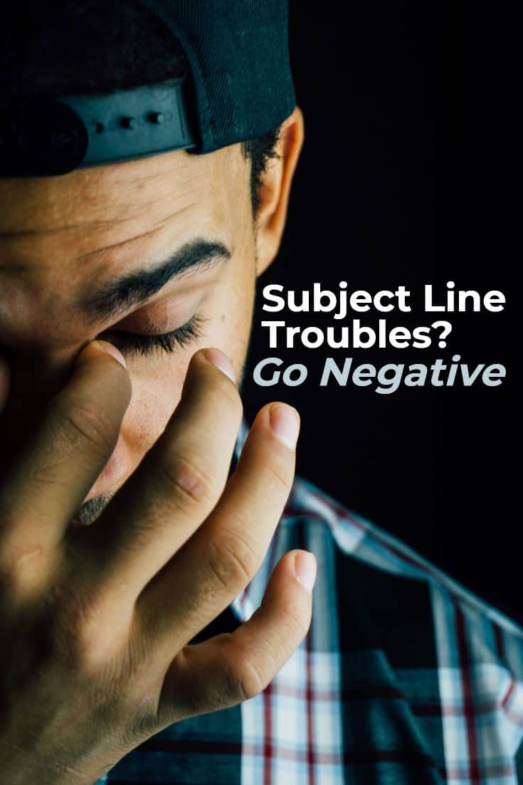 If you're not getting the open rates you seek, try using a negative subject line on 10% of your emails. You might get some very positive results. via @scopedesign