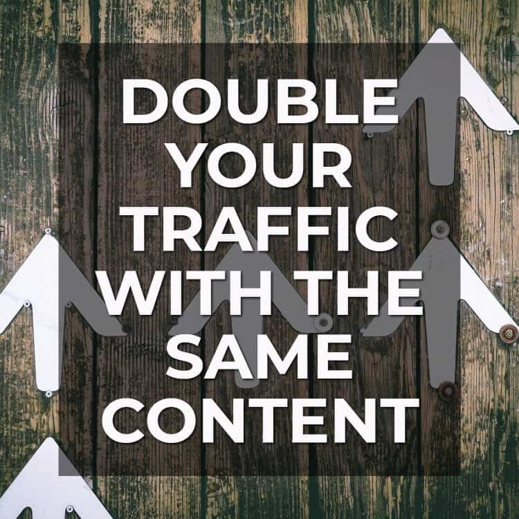 Double Your Traffic with the Same Content via @scopedesign